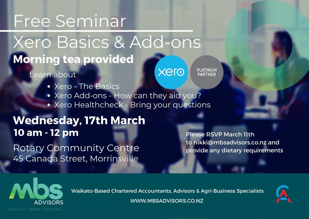 Xero Seminar March 2021